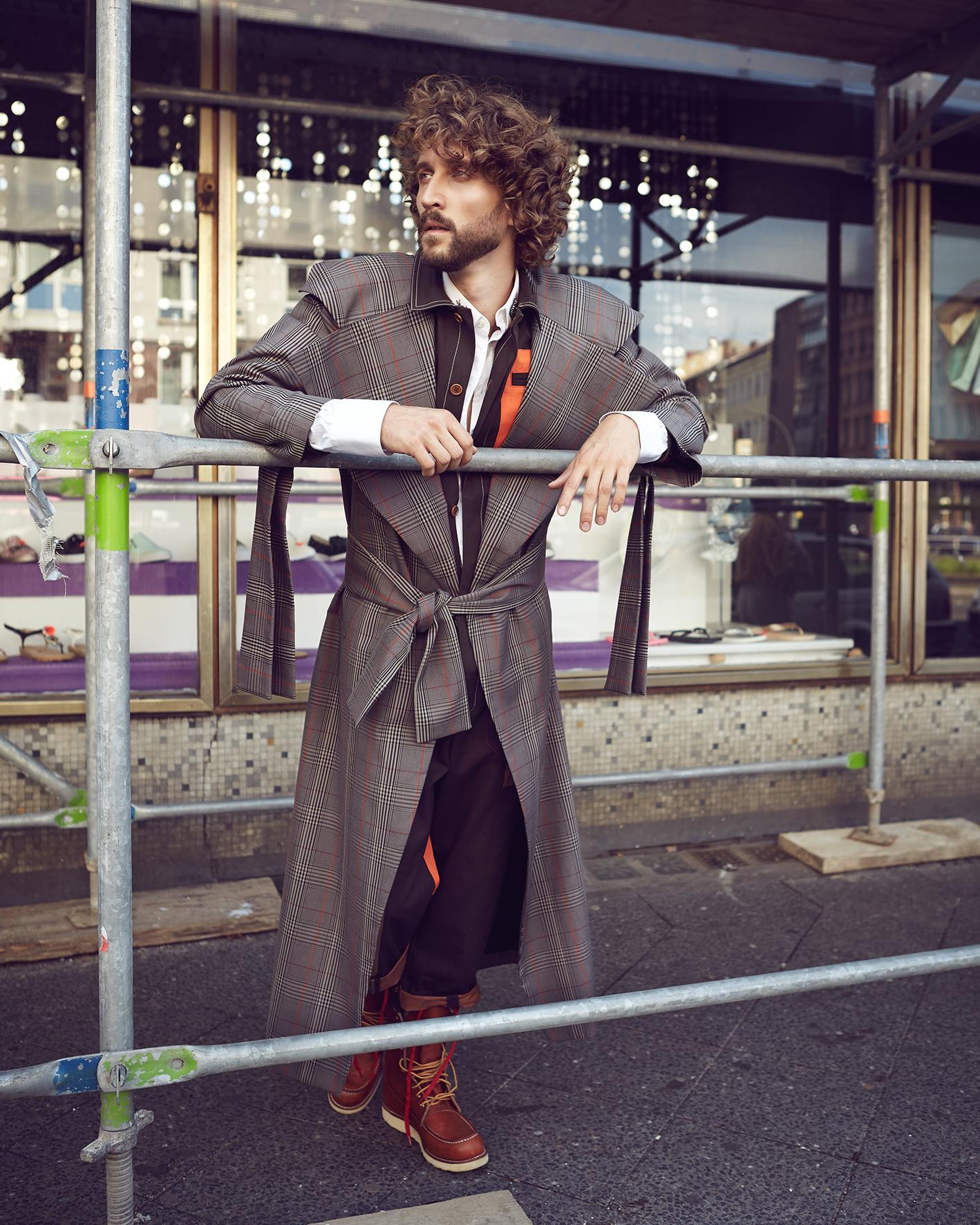 Male fashion editorial with model Erik Reisinger by Heidi Rondak for Vangardist