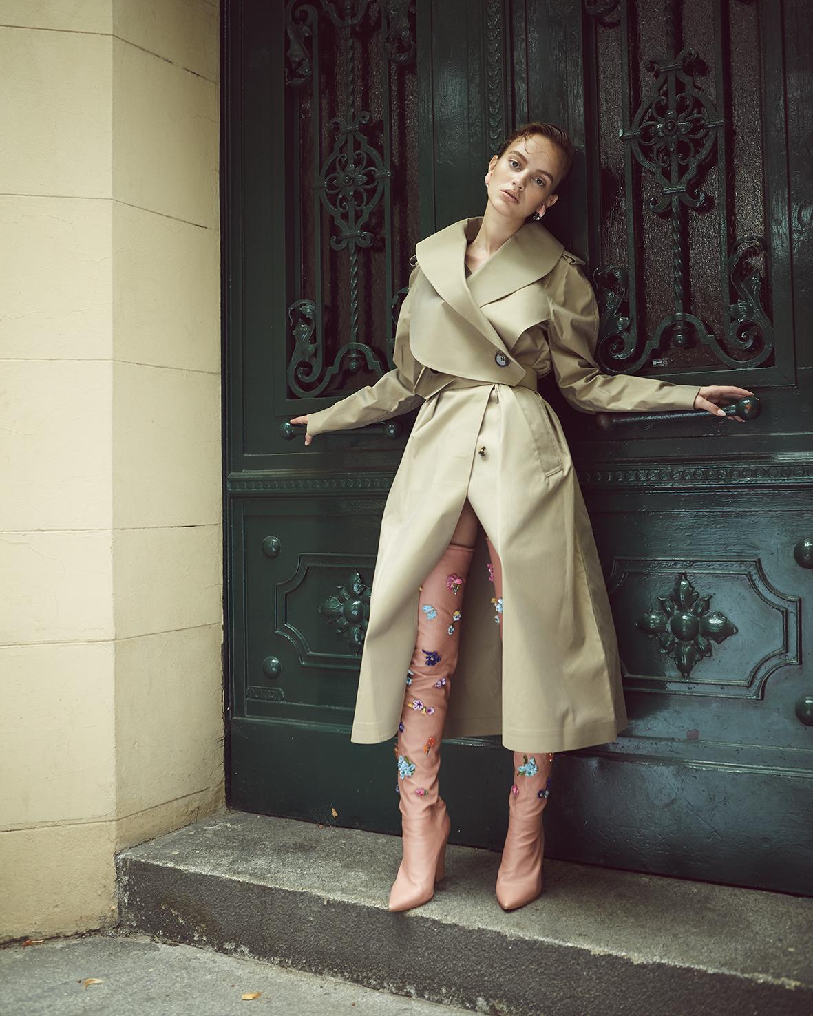 Female fashion editorial with model Krista Tcherneva from ICONIC by Heidi Rondak