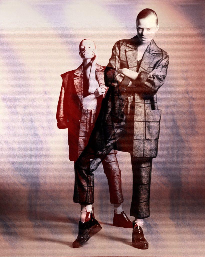 Glitch art fashion editorial with model Siri Meßmer by Heidi Rondak for Teaser Magazine