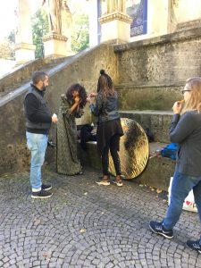 Making of shooting with model Joyce Almeida from Munich Models