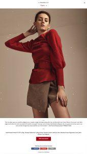 Model Hannah Scholz from Izaio captured by Heidi Rondak for Heidi's Christmas calendar