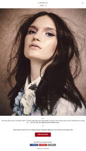 Model Hannah Novak from Iconic captured by Heidi Rondak for Heidi's Christmas calendar