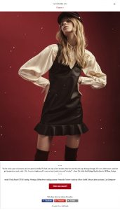 Model Violet Burak (TFM) captured by Heidi Rondak for Heidi's Christmas calendar
