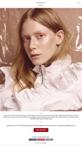 Model Zoe Herveva from TUNE Models captured by Heidi Rondak for Heidi's Christmas calendar