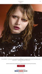 Model Rosa van Berckel from Iconic captured by Heidi Rondak for Heidi's Christmas calendar