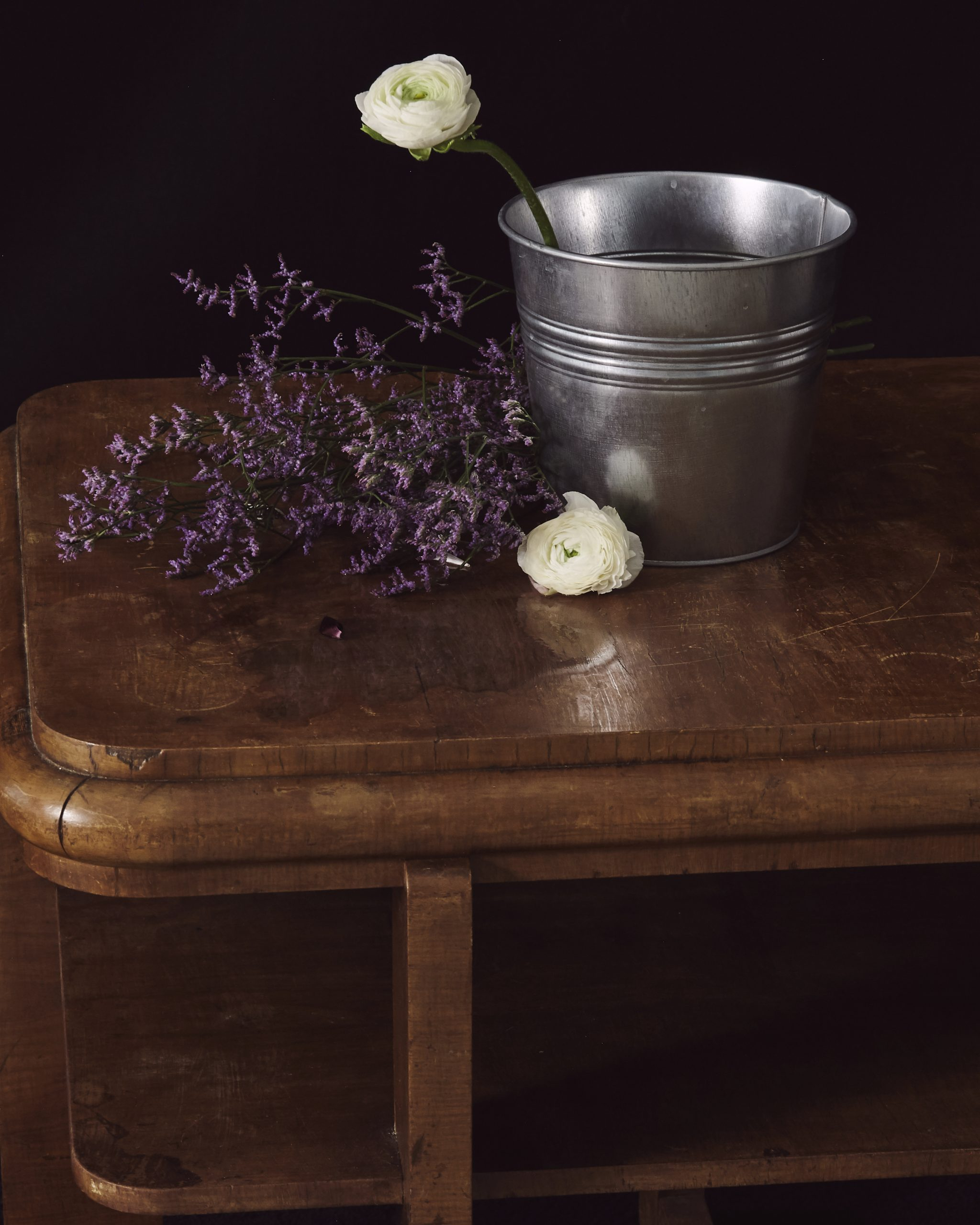 Still life with flowers and bucket by Heidi Rondak
