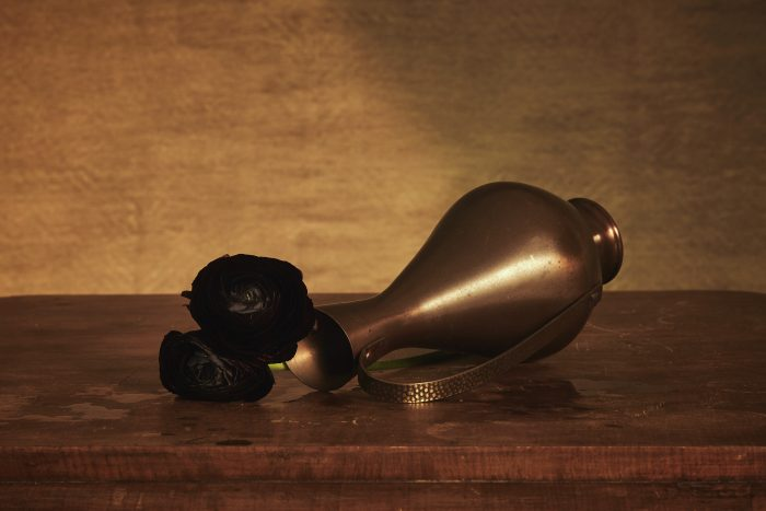 Still life with fallen vase by Heidi Rondak