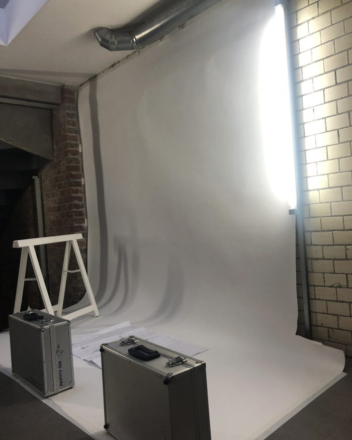 Backstage Set at Fashion Week Berlin 2018 for Sportalm Lookbook Shooting