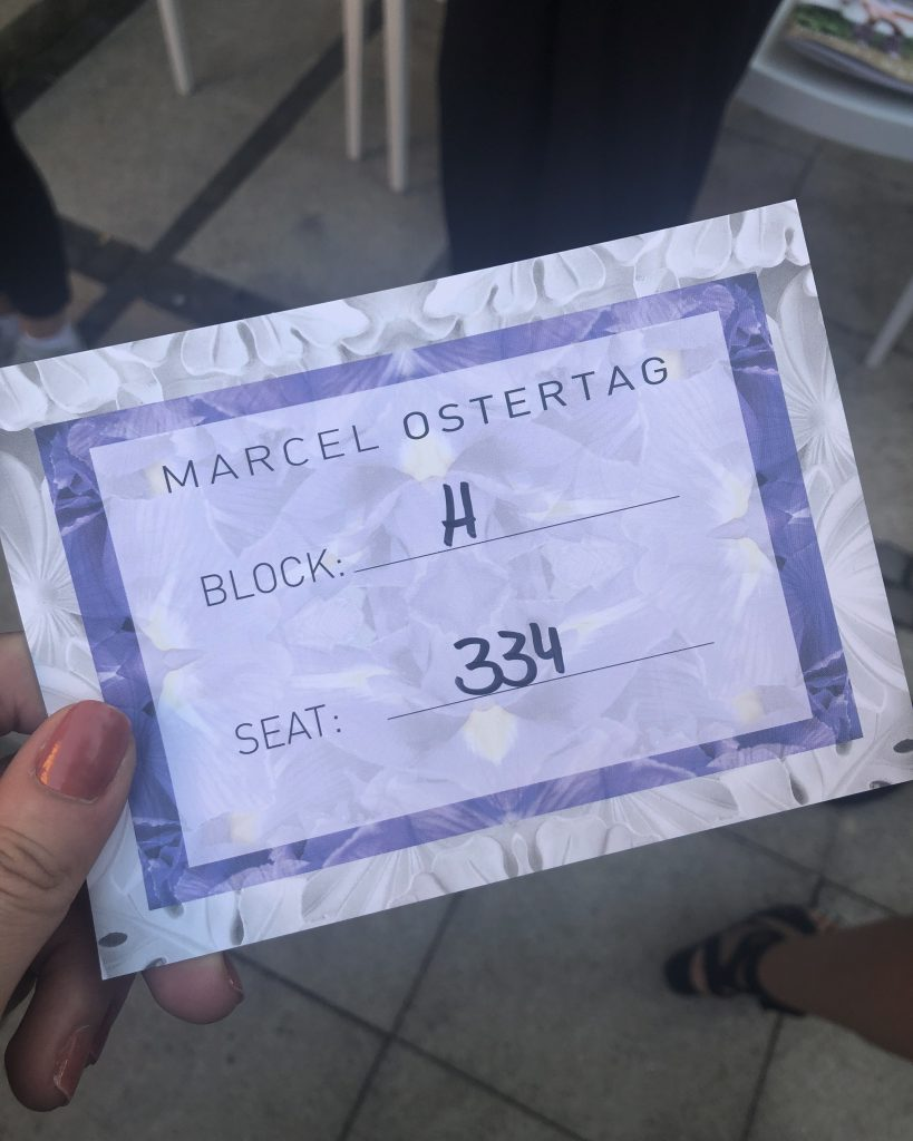 Ticket for Marcel Ostertag S/S 2019 Runway Show