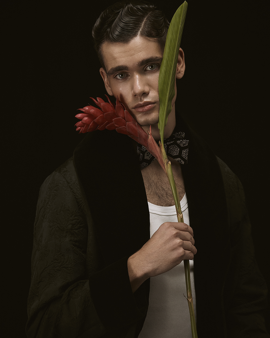 Fashion editorial with model Jannis from TFM Berlin by Heidi Rondak for Vangardist Magazine