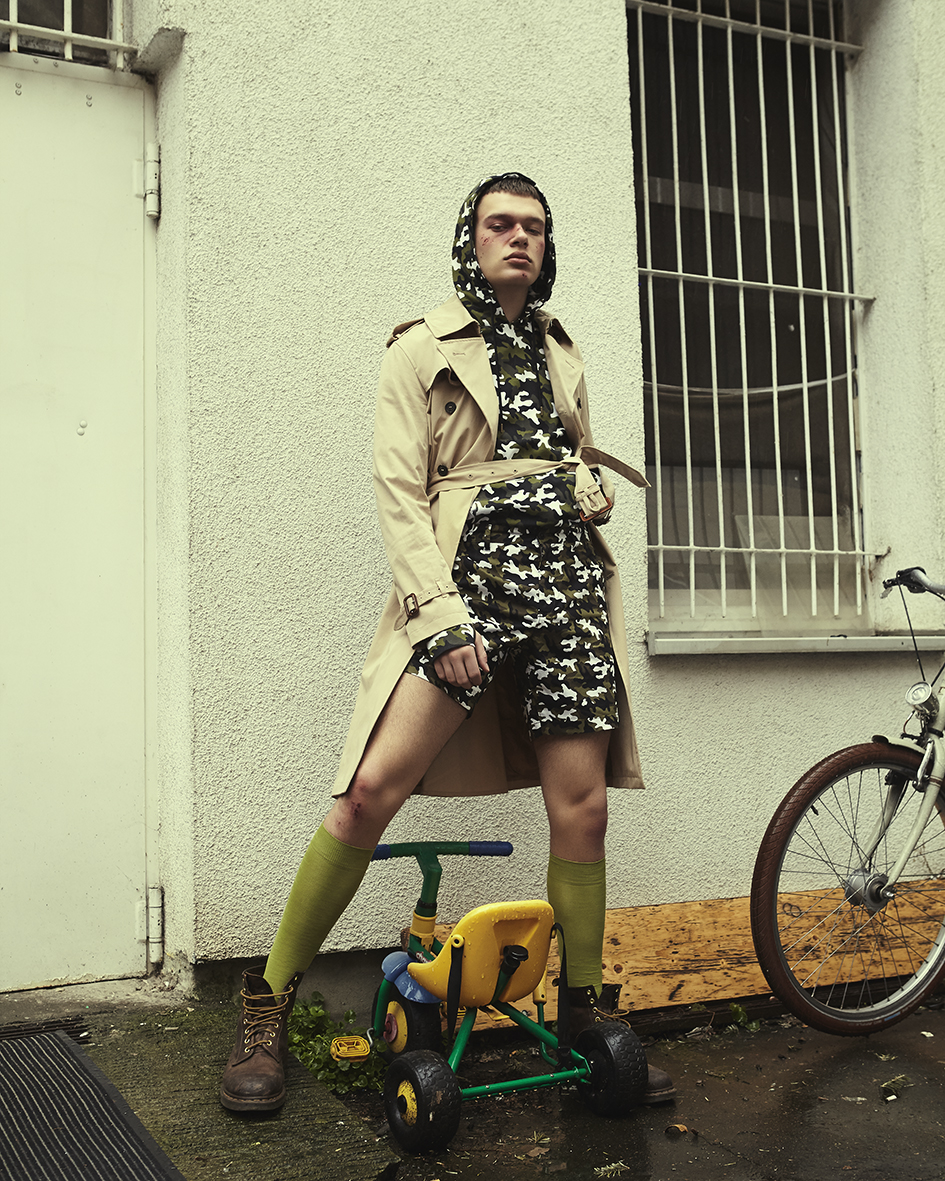 Fashion editorial with model Lukas Kahlmeier from SPIN Models by Heidi Rondak for Vangardist Magazine