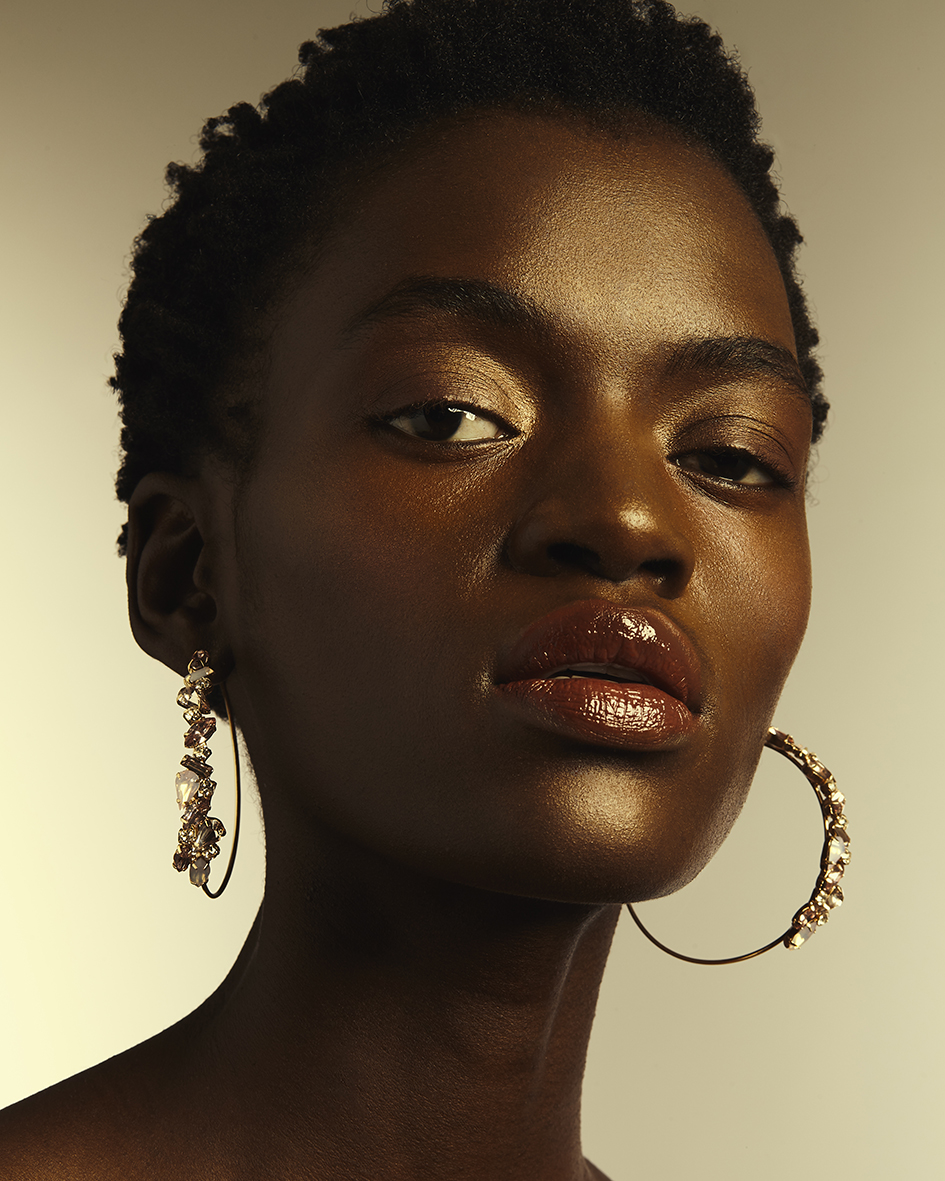Jewelry editorial with model Aketch Joy Winnie from M4 Models by Heidi Rondak