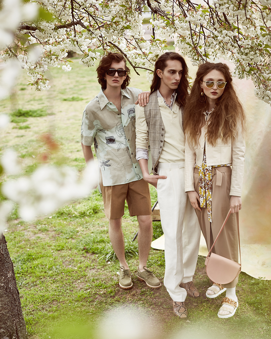 Fashion editorial with models Anna Zoja, Leo Bingel and Pascal Ball by Heidi Rondak for Vangardist Magazine