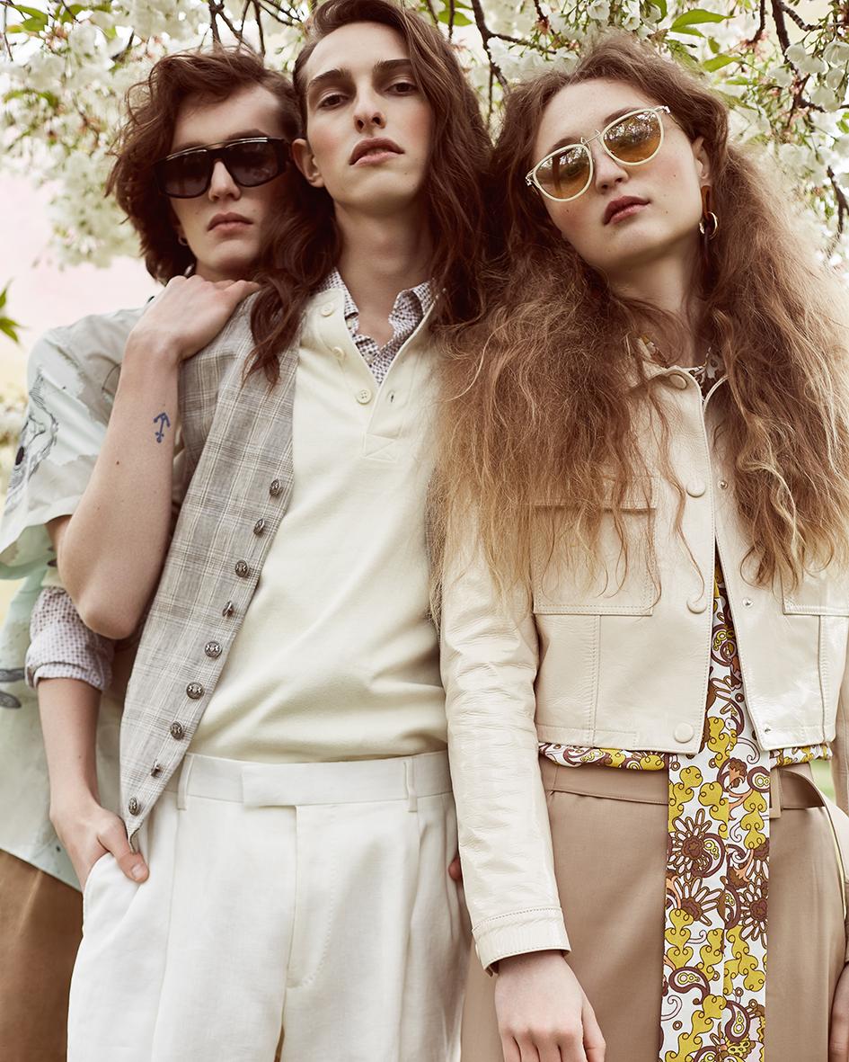 Fashion editorial with models Anna Zoja, Leo Bingel and Pascal Ball by Heidi Rondak for Vangardist Magazine