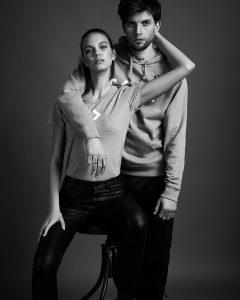 Studio shoot with models Helena Bertholdt of ICONIC Management and Romain of CORE Management by Heidi Rondak for CODE university