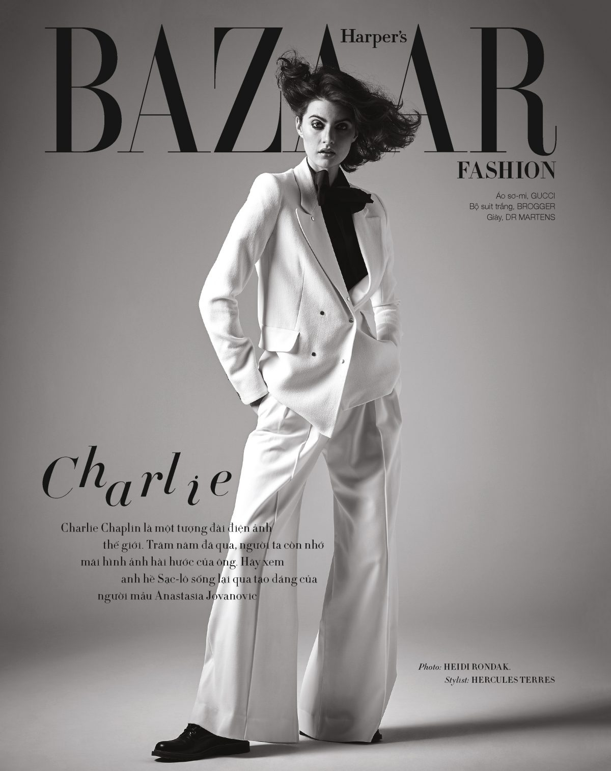 Fashion editorial with model Anastasia Jovanovic of Modelwerk by Heidi Rondak for Harper's Bazaar Vietnam